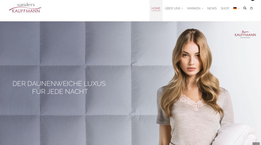 Sanders-Kauffmann se présente avec toutes les marques et fait ses achats sur sanders-kauffmann.eu